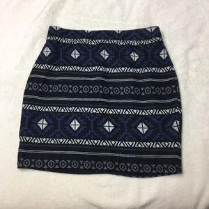 Knit body-con skirt